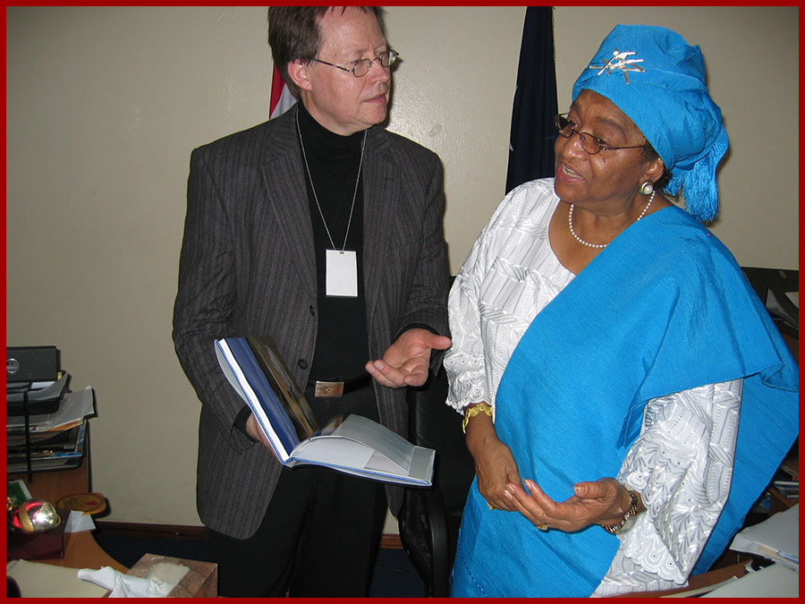 Meeting with Ms. Ellen Johnson Sirleaf, President of Liberia